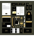 Corporate identity template set Business mock-up vector image