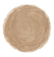 delicate brown watercolor painted stain vector image