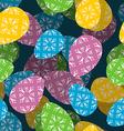 Easter 3D seamless pattern 3d Easter egg vector image