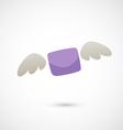flying letter vector image