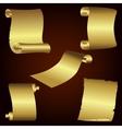 golden retro papers vector image