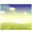 Green Landscape Sky vector image