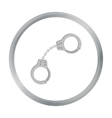 Handcuffs icon in cartoon style isolated on white vector image
