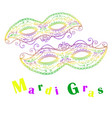 mardi gras decorative celebratory two masks vector image
