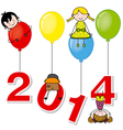 New year 2014 vector image