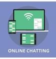 online chatting chat technology multi platform vector image