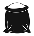Sack full of flour icon simple style vector image