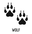 wolf step icon simple style vector image