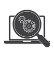 Testing software concept vector image