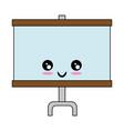 presentatio slide kawaii cartoon vector image