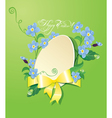 Easter greeting card with paper egg ribbon vector image vector image