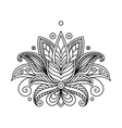 Turkish or persian floral design vector image