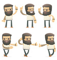 set of tattoo artist character in different poses vector image vector image