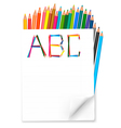 background with colorful pencils vector image