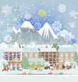 winter city scenery vector image