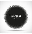 Abstract Halftone Dots Circle vector image vector image
