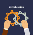 coaborative people design vector image