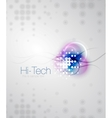 Abstract sparkling blurred shape background vector image vector image