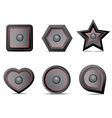 Amp speaker Icon set vector image