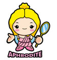 aphrodite mascot the goddess of beauty venus vector image