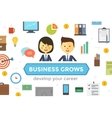collection business characters vector image