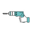electric drill tool icon image vector image
