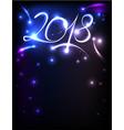 new year 2018 invitation vector image