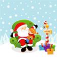 Santa With Kid vector image