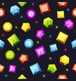 seamless pattern with colorful gemstones vector image