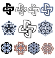 set of beautiful Celtic patterns vector image