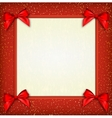 White text place with red ribbons and bow vector image