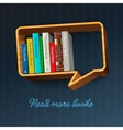 Bookshelf in the form of speech bubble vector image vector image