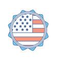 emblem with flag of usa inside vector image
