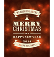 Merry Christmas message and light background vector image vector image