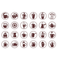 Coffee icon collection vector image vector image