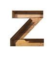 wooden cutted figure z Paste to any background vector image vector image