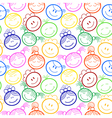 Seamless pattern with childrens faces vector image