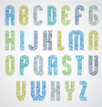 Bold condensed poster font with hand drawn curly vector image vector image