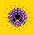 Yoga icon vector image vector image