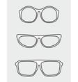 White glasses set vector image