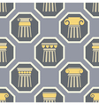 Seamless background with ancient columns vector image
