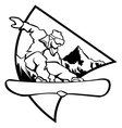 snowboard logo vector image