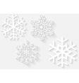 3D Snowflake Set vector image vector image