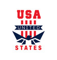 american logo template with eagle silhouette usa vector image