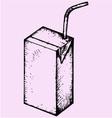 blank drink box packaging juice milk yogurt vector image