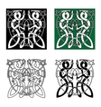 Celtic twisted dragons in tribal style vector image