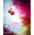 Christmas design with red glass vector image
