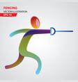 fencing sport logo vector image