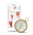gps app concept navigation travel vector image