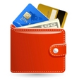 leather wallet vector image